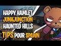 Spawn à Happy Hamlet, Junk Junction et Haunted Hills