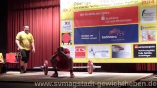 KSV Lörrach gegen SV Magstadt Gewichtheben Oberliga 2014 02 22