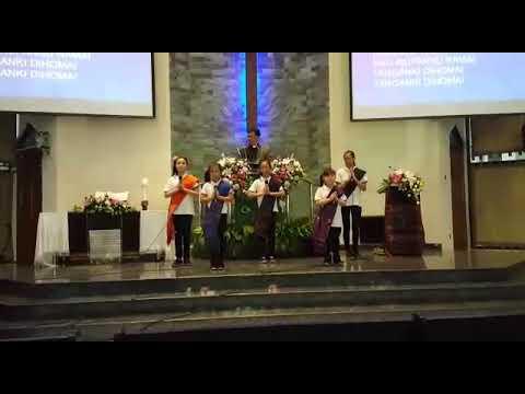 GKI DAMAI Bulan Misi 'Rasul Batak'.   Tanganku Na Metmet oleh Little Hearts for Jesus. 050818
