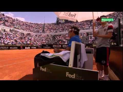 2R M1000 ROMA Carlos Berlocq vs Roger Federer SET 1/2
