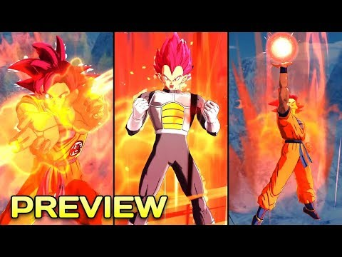 Transforming Super Saiyan Vegeta And Super Saiyan God Goku Preview - Dragon Ball Legends