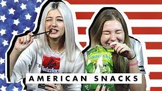 Δοκιμάζουμε σνακς από Αμερική ft. Vasilikou • Venetia Kamara