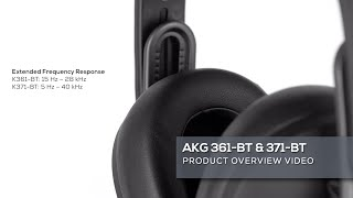 AKG K361-BT and K371-BT Headphones Overview