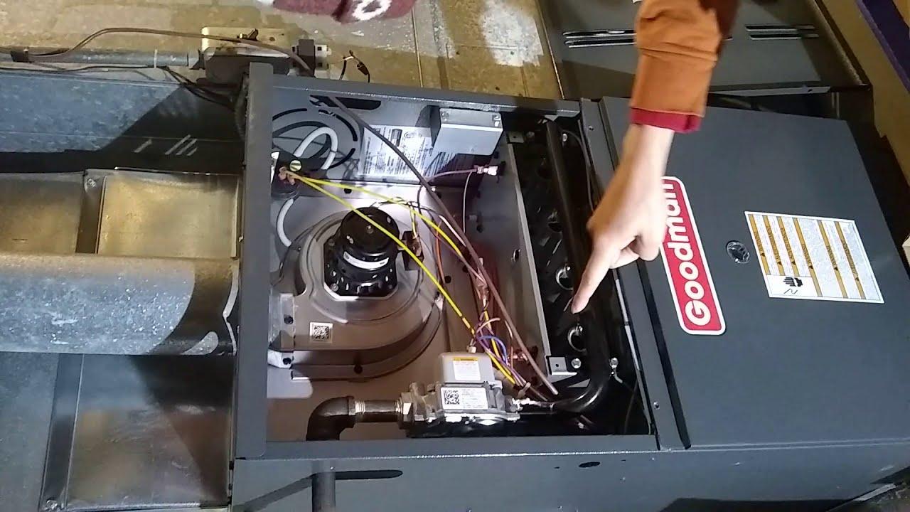 Goodman gas furnace won't start 2  Find the problem  3 blinks Error code 3  YouTube
