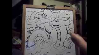 how to draw a sea monster by A