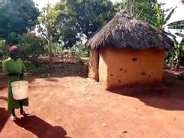 Typical Widow Mud Home in Siaya Kenya