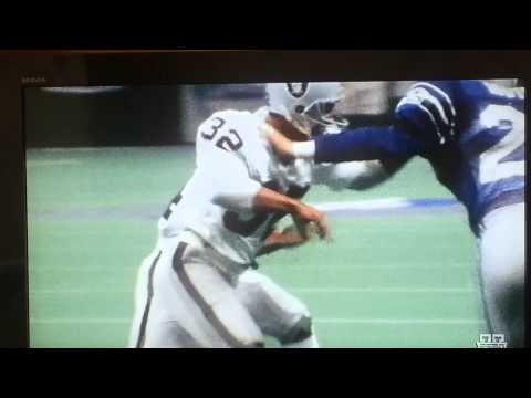 Bo Jackson runs over Brian Bosworth