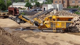 Video still for Crushing concrete foundations in NJ