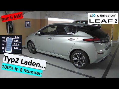 nissan leaf 2 laden an typ2 ladestation in weilheim teck. Black Bedroom Furniture Sets. Home Design Ideas
