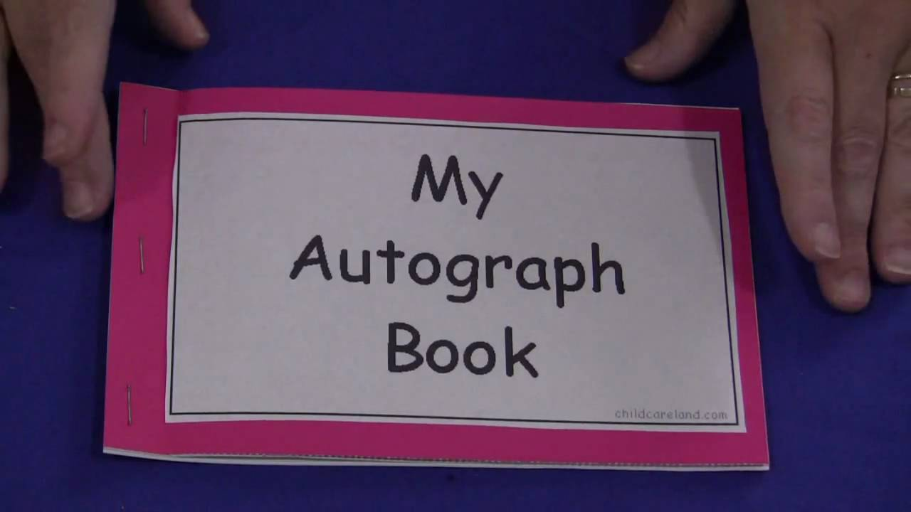 my autograph book youtube