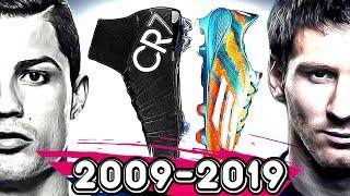 RONALDO VE MESSİ NİN TÜM KRAMPONLARI ! 2009 - 2019 !