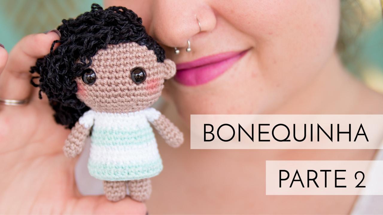 Tutorial cabelo cacheado para boneca de crochê - YouTube | Bonecas ... | 720x1280