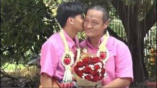 """Chàng trai trẻ 21 tuổi kết hôn cùng người đàn ông 52 tuổi sau 4 năm yêu đương khiến CĐM """"phát sốt"""""""