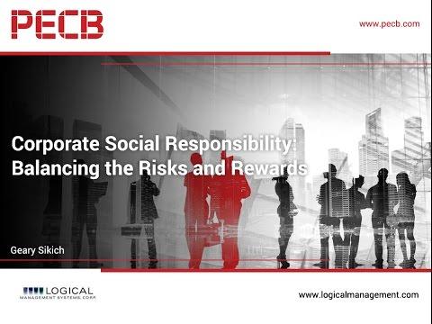 Corporate Social Responsibility: Balancing the Risks and Rewards