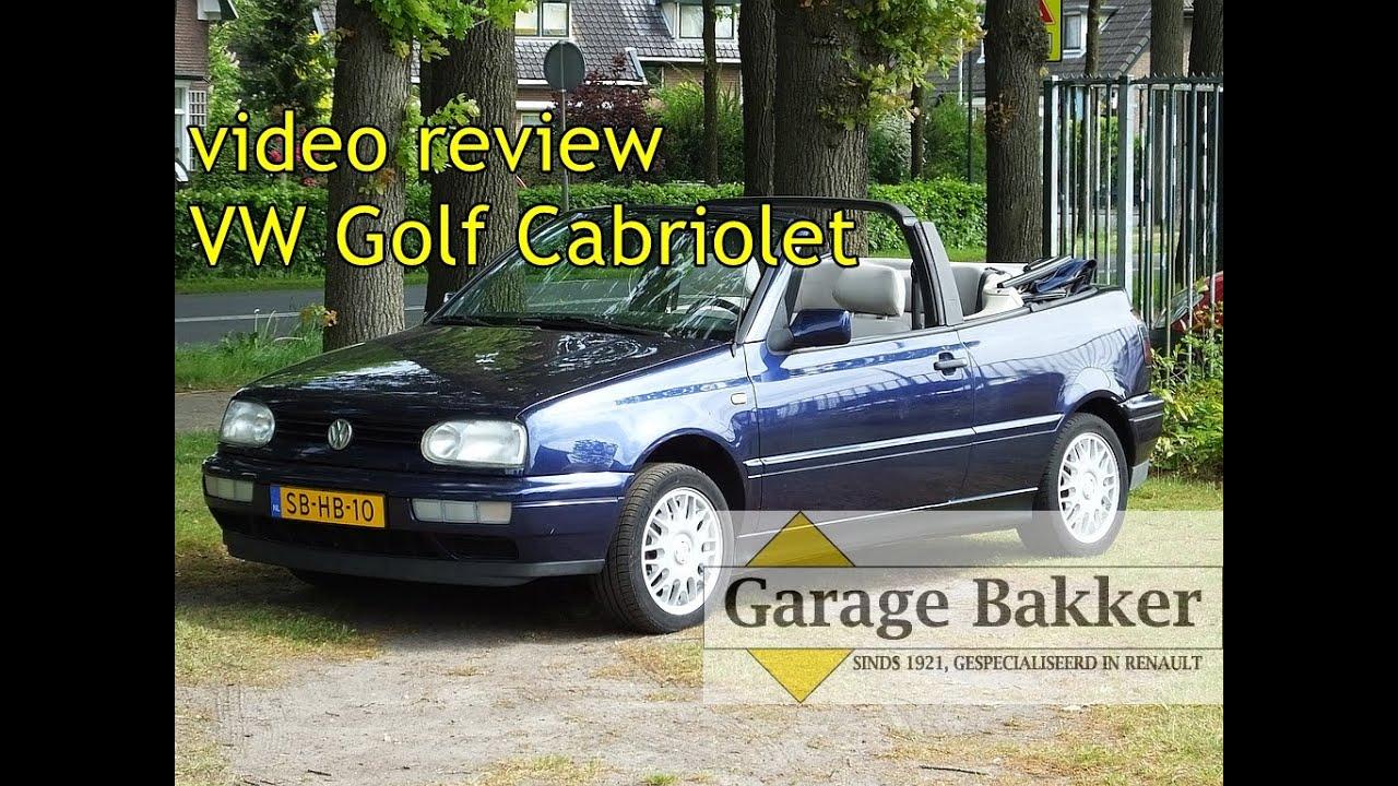 video review volkswagen golf cabriolet 1 8 1997 sb hb 10 youtube video review volkswagen golf cabriolet 1 8 1997 sb hb 10