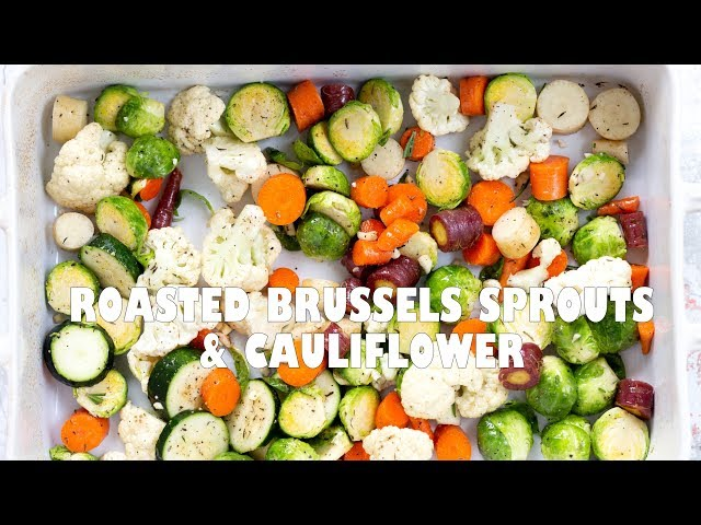 Roasted Brussels Sprouts and Cauliflower & How To Roast Crisp Vibrant Veggies | Vegan Richa Recipes