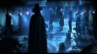 V per vendetta il film: il massacro di V
