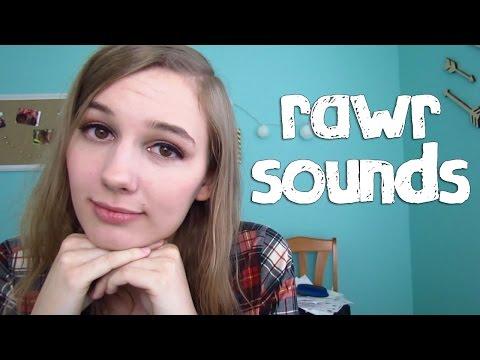 "[BINAURAL ASMR] Rawr Sounds :3 (""like a kitty cat / dinosaur / lion"")"