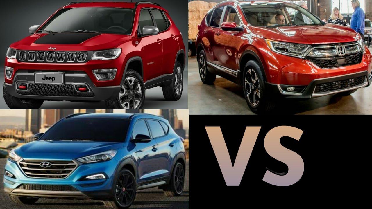 2017 jeep compass vs 2017 honda crv vs 2017 hyundai for Honda jeep 2017