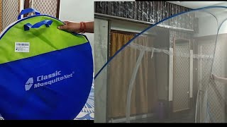 Bed Mosquito Net unboxing and review in telugu