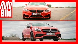 Drag Race BMW M4 Competition vs Mercedes AMG A 45