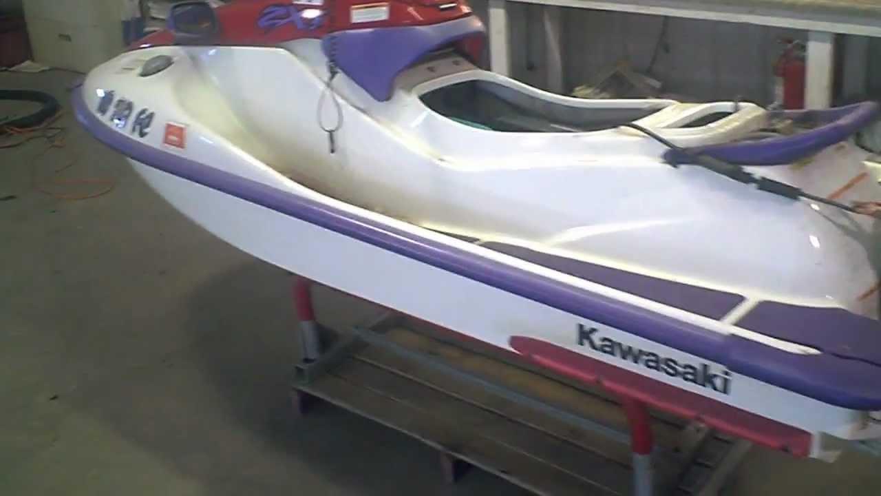 lot 1262a 1997 kawasaki zxi 750 jet ski running - youtube