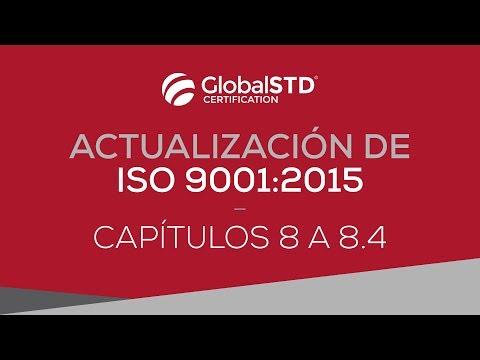Capítulo 8 a 8.3 de ISO 9001:2015