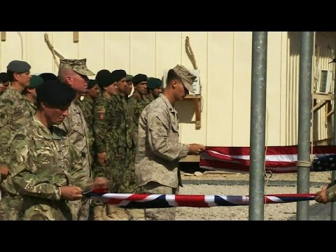 U.S. Marines and U.K. troops end combat mission in Afghanistan