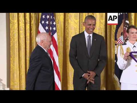 Mel Brooks Steals Show At White House