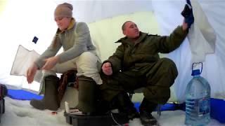 Ловим карася с женой на мормышку.Отличный клёвглухарь рыбак.Варим пельмешкивсё по домашнему