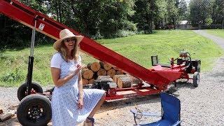 #509 Amazing, Productive, Firewood Set Up! Making BTU's the easy way