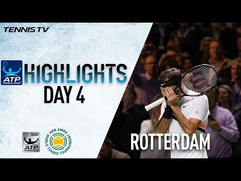 Highlights: Federer Guarantees Return To Top Of ATP Rankings, Dimitrov Advances