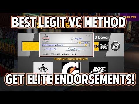 NBA 2K19 BEST LEGIT VC METHOD! GET ELITE ENDORSEMENTS! VC WILL STACK UP FAST!