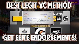 NBA 2K19 BEST LEGIT VC METHOD! GET ELITE ENDORSEMENTS! VC WILL STACK UP FAST!