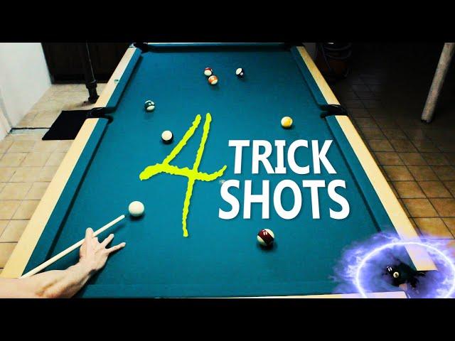 4 Pool Trick Shots: Volume 10