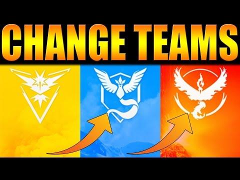 Pokémon GO | HOW TO CHANGE TEAMS ON POKEMON GO