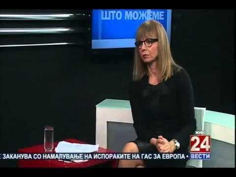 Antoni Peshev and Menderes Kuchi in Win-Win with Olivera Trajkovska on 24 Vesti TV 2014 November