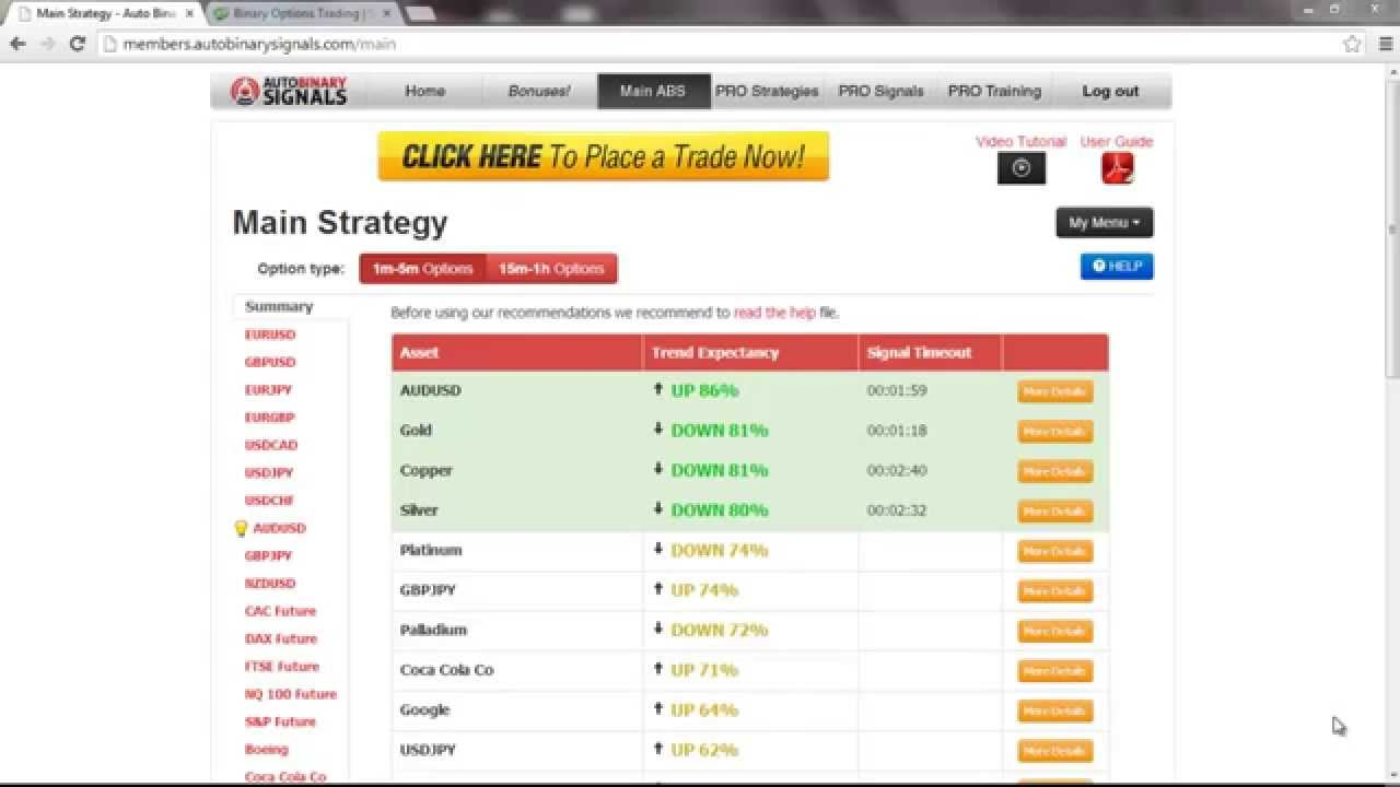 Options trading system com