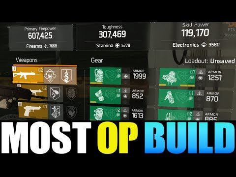 THE DIVISION - MOST OVERPOWERED 1.7 BUILD!! BEST DAMAGE, TOUGHNESS & SKILL POWER BUILD