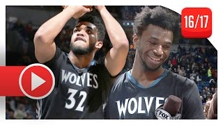 Andrew Wiggins & Karl-Anthony Towns Full Highlights vs Warriors (2017.03.10) - TOO GOOD!
