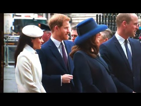 Meghan Markle Arrives To Join The Queen At Westminster Abbey Commonwealth Day 2018