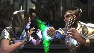 Injustice 2 : Enchantress Vs Black Adam - All Intro/Outros, Clash Dialogues, Super Moves