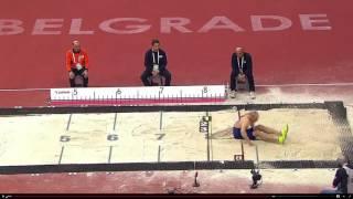 Сергей Никифоров, прыжок на 8 м 07 см. Зимний чемпионат Европы, Белград-2017