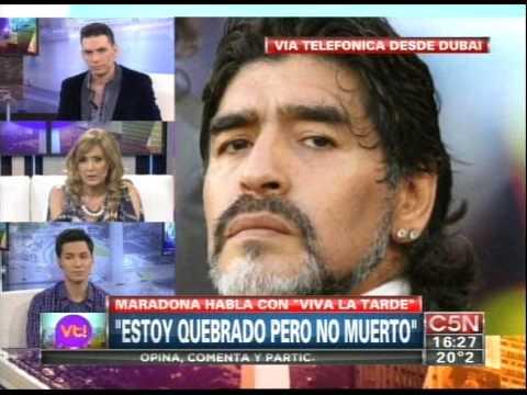 C5N - VIVA LA TARDE: DIEGO MARADONA HABLO DE TODO