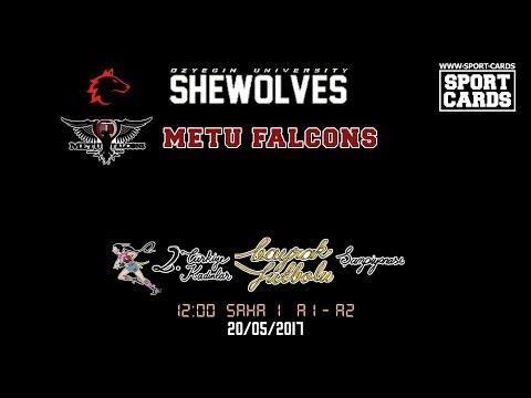 OzU Shewolves vs METU Falcons Women's Flag Football 12:00 20/05/2017