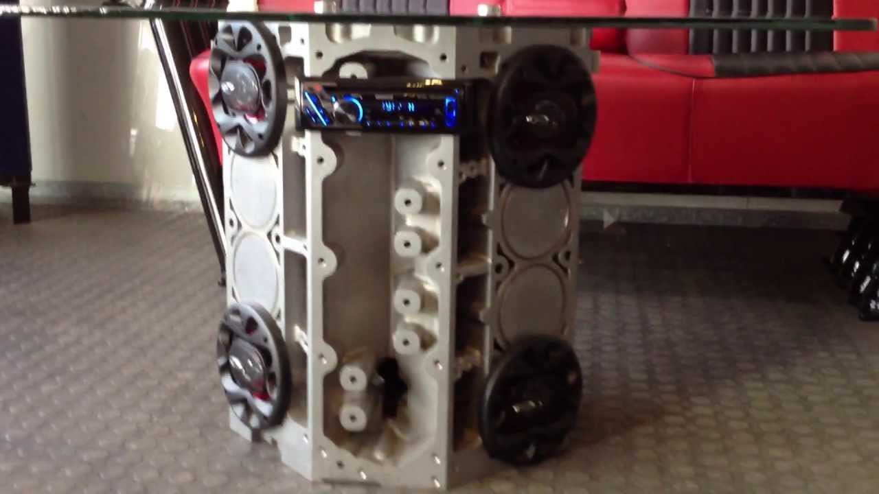 Ls1 engine block table with stereo and speakers youtube geotapseo Image collections