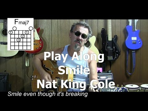 Smile cover with Lyrics & Chords - How to Play - Nat King Cole - C9