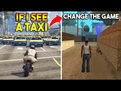 GTA : IF I SEE A TAXI CHANGE THE GAME ! (GTA 5, 4, SA, VC, 3, 2, 1) |
