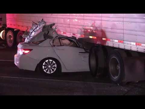 Driver Trapped Under Semi / Lake Elsinore RAW FOOTAGE