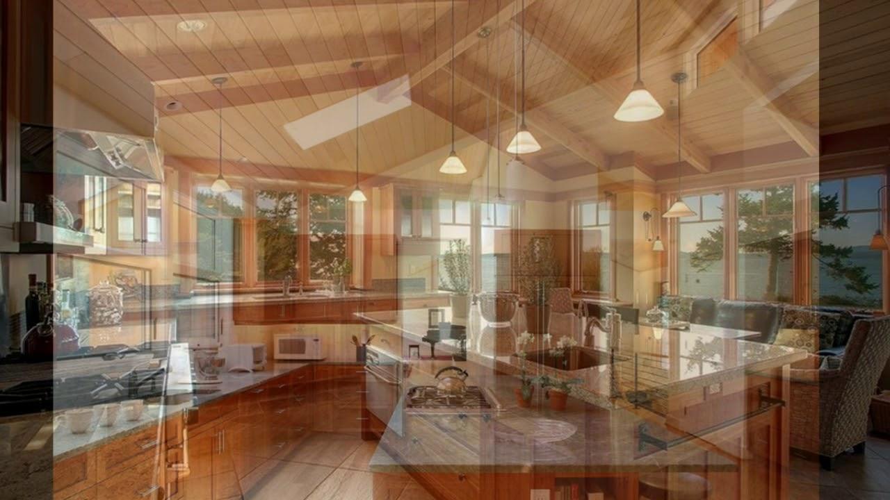 Kitchen lighting design vaulted ceiling youtube